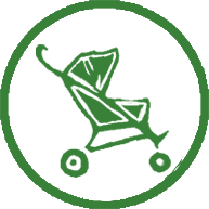 Suitable for pushchairs